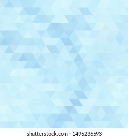 abstract blue background with triangle mosaic - vector