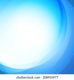 Abstract blue background. Vector illustration
