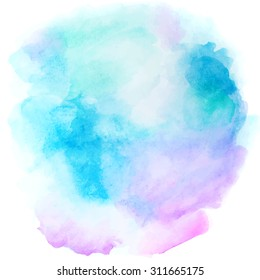 Abstract blue background in watercolor style for vintage design