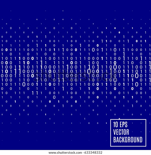 Abstract Blue Binary Code Technology Background Stock Vector
