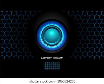 Abstract Blue black modern futuristic background vector illustration.