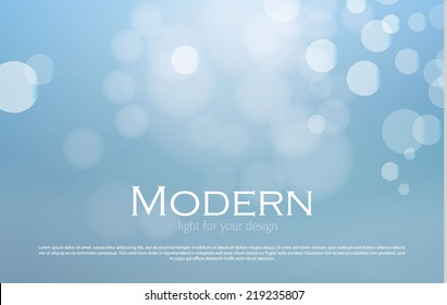 Abstract blue bokeh background. Merry Christmas. Vector illustration