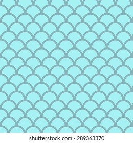 Abstract blue bubbles vector pattern