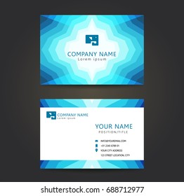 Abstract blue business card set  Template Design Of Business Card.