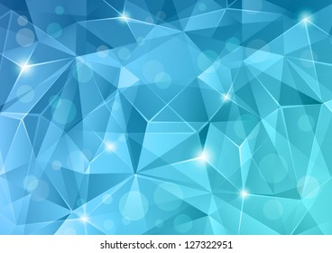 Abstract blue crystal background.