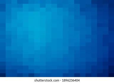 Abstract Blue geometric Background, Creative Design Templates. Pixel art Grid Mosaic, 8 bit vector background.