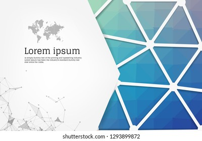 Abstract Blue geometric design template with triangular polygonal background. Info graphics background with geometric shapes. creative business cards, clean and modern concept.