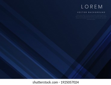 Abstract blue geometric diagonal overlay layer background. You can use for ad, poster, template, business presentation. Vector illustration