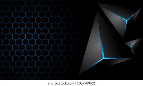 Abstract Blue Geometric modern futuristic background vector illustration.