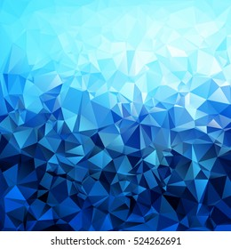 Abstract blue gradient polygon shaped background