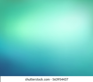 Abstract blue and green background. Blurred turquoise water backdrop. Vector illustration for your graphic design, banner, aqua poster.