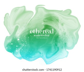 abstract blue green ethereal background