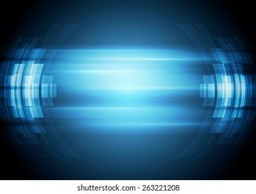 Abstract blue hi-tech background. Vector design illustration