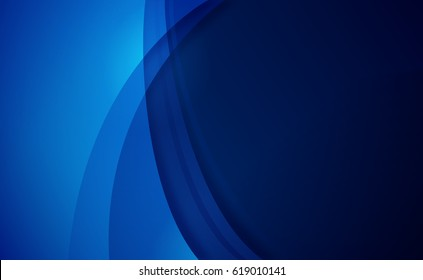 Abstract blue horizontal background.