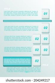 Abstract blue infographics. Business brochure.