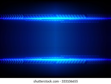 abstract blue light with arrow technology background. illustration vector design.