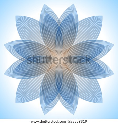 Abstract blue lotus flower abstract blue stock vector royalty free abstract blue lotus flower abstract blue background geometric shapes with many thin lines mightylinksfo