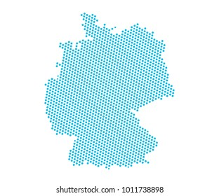 Germany map images stock photos vectors shutterstock abstract blue map of germany dots planet lines global world map halftone concept gumiabroncs Gallery