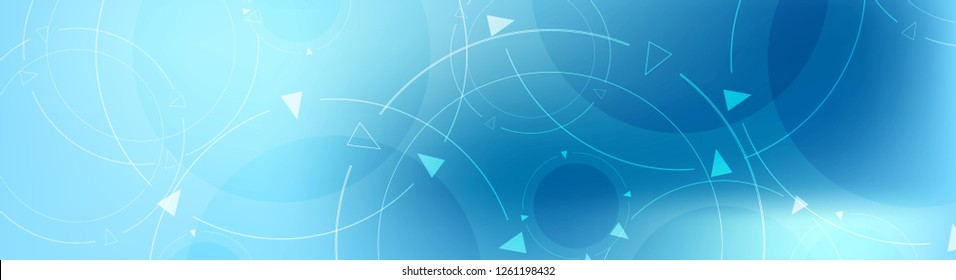 Abstract blue minimal technology banner design. Vector background