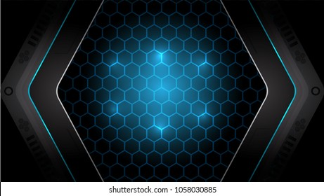 Abstract Blue modern futuristic background vector illustration.