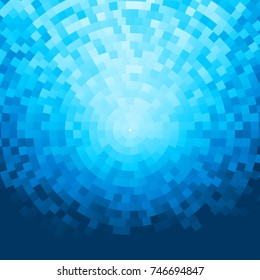 Abstract blue mosaic background. Eps8. RGB Global colors