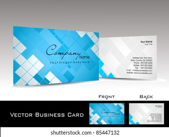 abstract blue mosaic pattern background corporate business card or visiting card