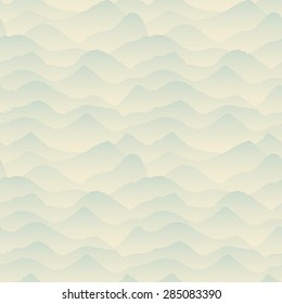 Abstract Blue, Mountain Seamles Pattern. Vector Illustration