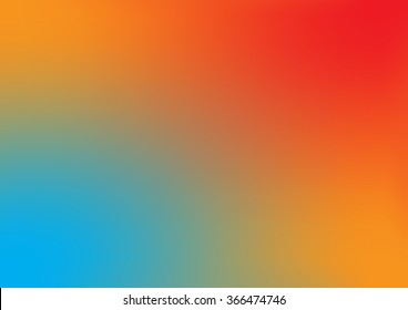 abstract blue orange background with smooth gradient colors and multicolor texture design for brochure /  Easter / Christmas / web template
