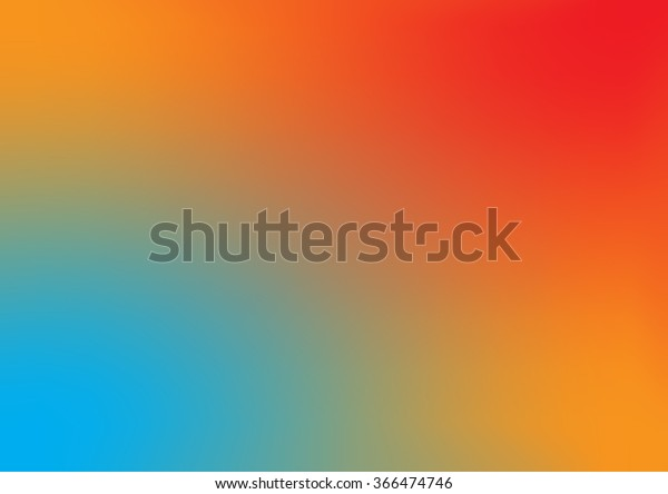Abstract Blue Orange Background Smooth Gradient Stock