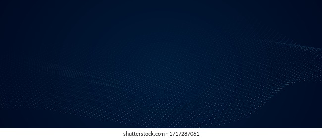 Abstract blue pattern and background poster with dynamic triangle. technology Particle Mist network Cyber security Vector illustration.
