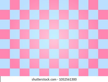 Abstract Blue and pink background checkerboard pattern