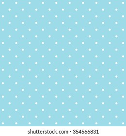 Abstract blue polka dot background pattern. Vector image.