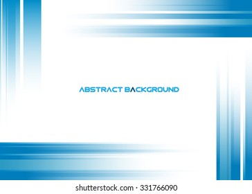Abstract blue rays on white background - vector