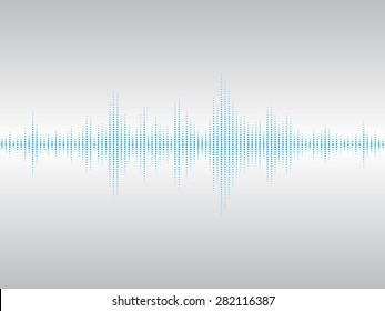 Abstract blue sound waves background for parties, clubs, discos and concerts.