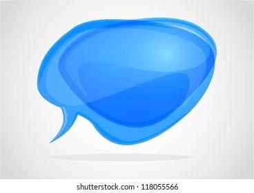 Abstract blue speech bubbles