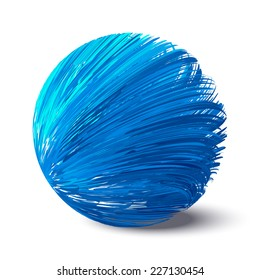 Abstract blue sphere.