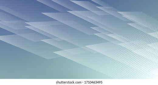 Abstract Blue Square Blurred Background with Digital Technology Theme