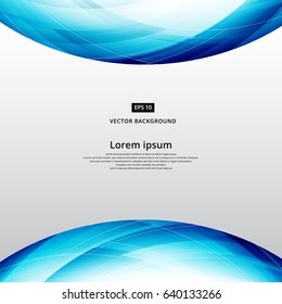 abstract blue square lines world curve footer header template vector illustration
