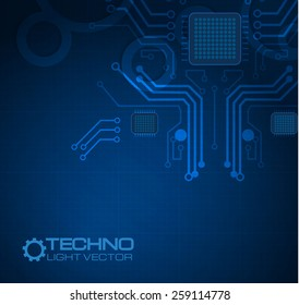 Abstract blue techno background. Vector illustration