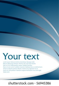 Abstract blue text pattern