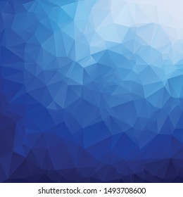 Abstract Blue triangle geometrical background. Vector illustration