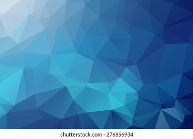 Abstract Blue Triangular Background 2