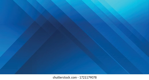 Abstract blue vector background for use in multipurpose design. Dark blue vector abstract background. Creative illustration in geometric shapes style with gradient. Vector illustration design