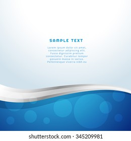 abstract blue wave background