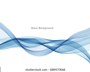 Abstract blue wave decorative background