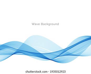 Abstract blue wave design decorative background vector