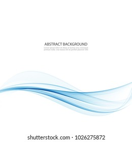 Abstract blue wave vector background