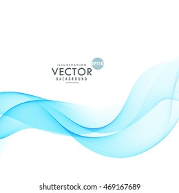 abstract blue wave in white background