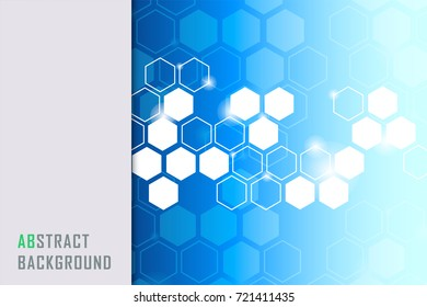 Abstract blue and white tech line corporate design background.