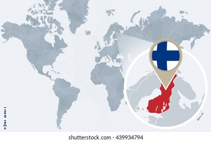 Finland in World Map Images, Stock Photos & Vectors ...